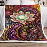 Abstract Flower Design HN0711240F Sherpa Fleece Blanket