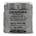 You Cant Scare Me I Have A Crazy Grandma Funny Bedding Set DHC040120139TD