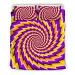 Yellow Twisted Moving Optical Illusion CLH2911257B Bedding Sets