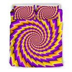 Yellow Twisted Moving Optical Illusion CL16100893MDB Bedding Sets