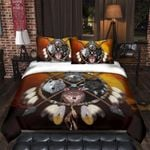 Yy1105 Wolve 4 Wolves Warrior Bedding Set Dhc13121333Dd