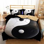 Yin Yang Soccer CLA290852B Cotton Bed Sheets Spread Comforter Duvet Cover Bedding Sets