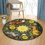 Animals BT1909008C Round Carpet