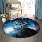 Astronaut Sunflower Planet Universe DV0710010RR Round Carpet #16499