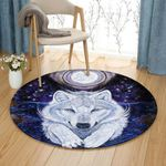 Angel Wolf Raven HM230801TM Round Carpet
