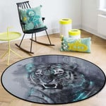 Angry Tiger CLG1110021C Round Carpet #65663