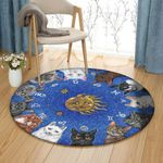 Astrological Cats VD2210226RR Round Carpet
