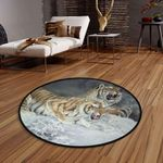 Angry Tigers CLG1110022C Round Carpet #40482