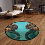 Angry Tiger CLG1110018C Round Carpet #75648
