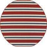 Americana Striped Red And Blue CLA1610233RR Round Carpet #77050