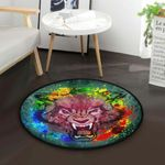Angry Wolf CLG1110023C Round Carpet #47123