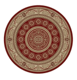 Aubusson Red CLM1610015TM Round Carpet