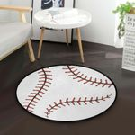 Baseball CLA200804 Round Carpet #64871