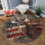 American Whitetail Hunting CLM1210005R Round Carpet