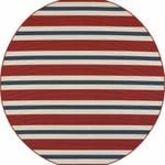 Americana Striped Red And Blue CLA1610233RR Round Carpet
