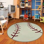 Baseball CLM1510004TM Round Carpet