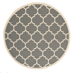 Anthracite And Beige CLM1610011TM Round Carpet #45422
