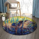 Autumn Forest Horse DV1610012RR Round Carpet #24844