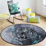 Angry Tiger CLG1110021C Round Carpet