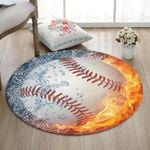 Baseball CL070801MDC Round Carpet