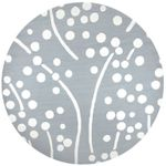 Azzura Hill Ivory Dots And Lines CLA1610235RR Round Carpet