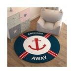 Anchors Away CLM2809003R Round Carpet