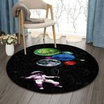 Astronaut Balloon Planet DV0710008RR Round Carpet #97549