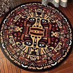 Ancient Primitive Era Pattern CLT0910006G Round Carpet #65900