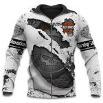 [Limited Edition] HD Motorbike Skull 3D Tank Top T-shirt Hoodie Zip Hoodie Jacket Long Sleeved  - 2020 HD286L