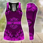 [Limited Edition] HD 3D ALL OVER PRINTED COMBO TANK TOP & LEGGINGS OUTFIT FOR WOMEN - HD386