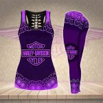 [Limited Edition] HD 3D ALL OVER PRINTED COMBO TANK TOP & LEGGINGS OUTFIT FOR WOMEN - HD385 2
