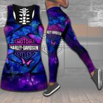 HD 3D ALL OVER PRINTED COMBO TANK TOP & LEGGINGS OUTFIT FOR WOMEN - HD396