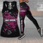 HD 3D ALL OVER PRINTED COMBO TANK TOP & LEGGINGS OUTFIT FOR WOMEN - HD394