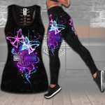 HD 3D ALL OVER PRINTED COMBO TANK TOP & LEGGINGS OUTFIT FOR WOMEN - HD393 2