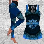 [Limited Edition] HD 3D ALL OVER PRINTED COMBO TANK TOP & LEGGINGS OUTFIT FOR WOMEN - HD384