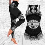 [Limited Edition] HD 3D ALL OVER PRINTED COMBO TANK TOP & LEGGINGS OUTFIT FOR WOMEN - HD383