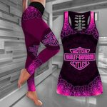 [Limited Edition] HD 3D ALL OVER PRINTED COMBO TANK TOP & LEGGINGS OUTFIT FOR WOMEN - HD377