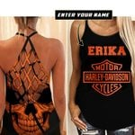 HD Custom Name Criss-Cross Open Back Camisole Tank Top HDL004L