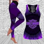 [Limited Edition] HD 3D ALL OVER PRINTED COMBO TANK TOP & LEGGINGS OUTFIT FOR WOMEN - HD385