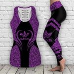 AD 3D ALL OVER PRINTED COMBO TANK TOP & LEGGINGS OUTFIT FOR WOMEN - ADL002L