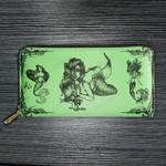 Ariel tattoo Leather Wallet