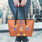 Aristocats Halloween Leather Tote Bag 1