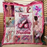 BALLET COLORFUL FABRIC QUILT
