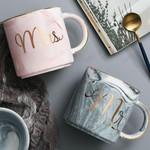 Beautiful Marbel Mr & Mrs Coffee Mug