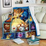 Beauty and the Beast 3D Blanket