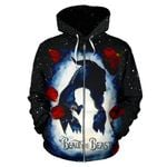 Beauty and The Beast Zip-Up Hoodie 1