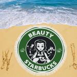Beauty Starbucks Beach Blanket 3