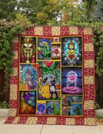 BELLE AND THE BEAST FABRIC QUILT