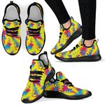 Colorful Leaves Mesh Knit Sneakers