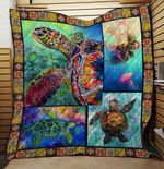 COLORFUL SEA TURTLE FABRIC QUILT
